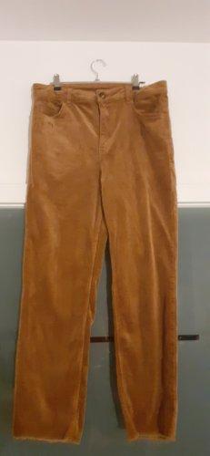 H&M Divided Pantalon en velours côtelé brun-cognac
