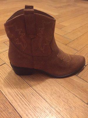 Braune Cowboystiefel