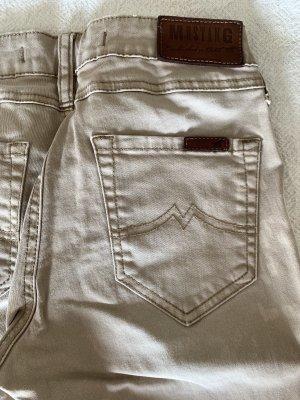 braune-creme Jeans