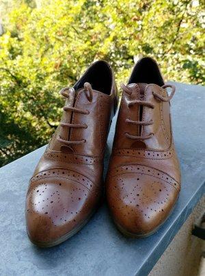 5 th Avenue Chaussures à lacets marron clair cuir
