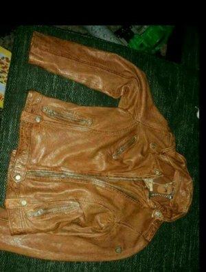 Braune Damen Leder jacke von Gibsy