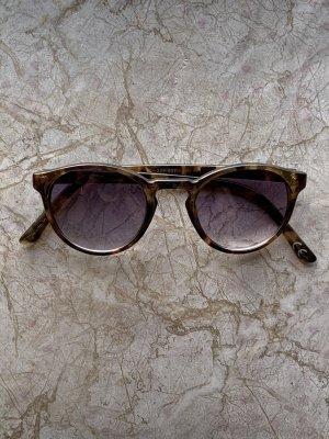 Owalne okulary przeciwsłoneczne brązowy-ciemnobrązowy