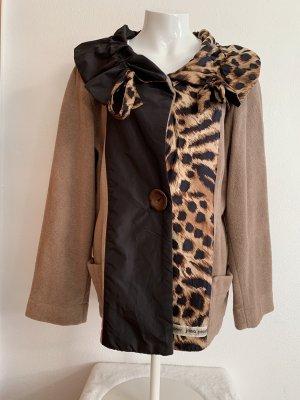 Braune Designer Jacke / Mantel Handmade von Jana Prunner Gr. L
