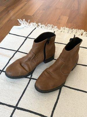 Rieker Botines marrón-marrón claro Cuero