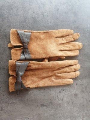 H&M Guantes de cuero marrón