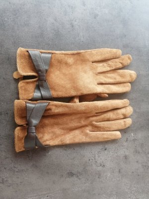 H&M Leather Gloves brown leather