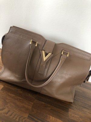 Braune Echtledertasche