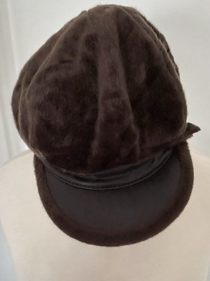 Fur Hat brown-cognac-coloured mixture fibre