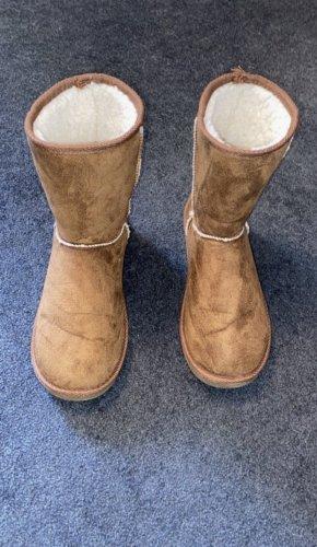 Colloseum Futrzane buty jasnobrązowy