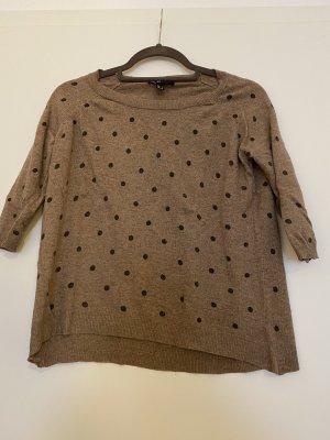 Braune gepunktet leichte Pullover