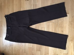 Pantalon taille haute brun foncé
