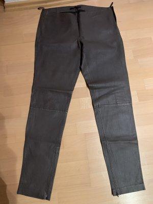 Set Pantalón de cuero marrón oscuro-marrón grisáceo