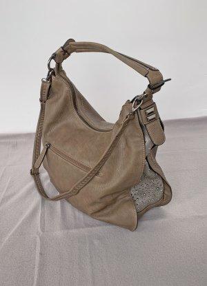 no name Bolso con correa marrón claro-color plata tejido mezclado