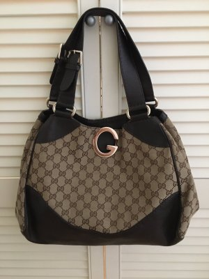 Gucci Hobos grey brown-dark brown