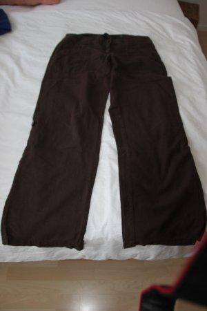 H&M Pantalon en lin brun foncé