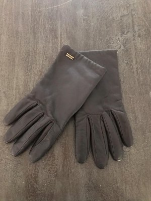 Tommy Hilfiger Leather Gloves dark brown-brown