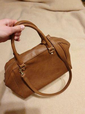 braune Handtasche Kunstleder