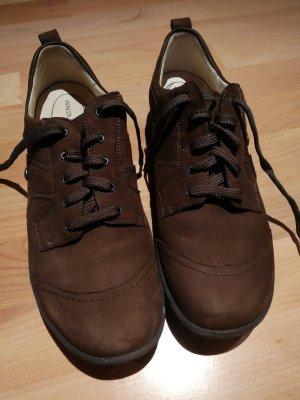 Waldläufer Sznurowane buty ciemnobrązowy
