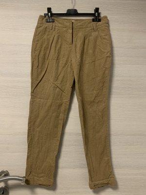 Camaieu Spodnie materiałowe jasnobrązowy