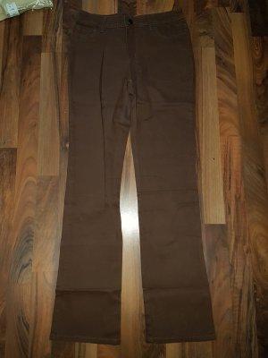 Pantalone a vita bassa marrone scuro-marrone-nero