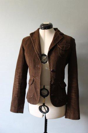Braune Jacke mit Ellenbogen Patches