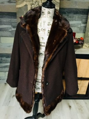 Double Jacket brown-cognac-coloured pelt