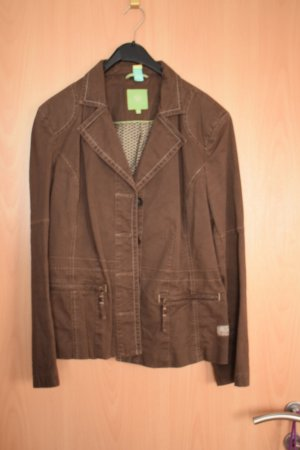 World of wissmach Safari Jacket black brown-gold-colored cotton