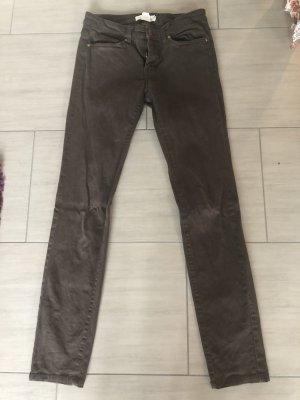 H&M Jeansy z prostymi nogawkami ciemnobrązowy