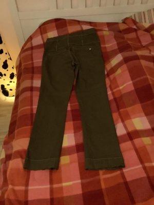 Jeans a vita alta marrone