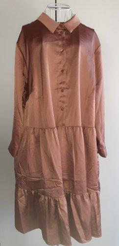 Braune Kleid Langarm Gr.46
