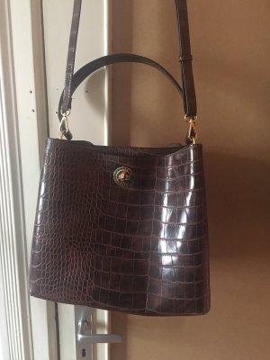 Braune Kroko Handtasche
