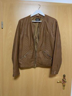 Defacto Chaqueta de cuero de imitación marrón