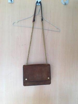 Braune Kunstledertasche