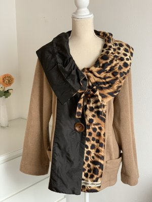 Braune kurze Designer Jacke Handmade