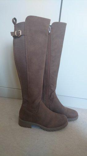 Braune lange Stiefel Gr. 39 - neu/ungetragen