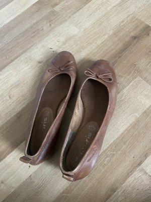 Tamaris Classic Ballet Flats dark brown-cognac-coloured