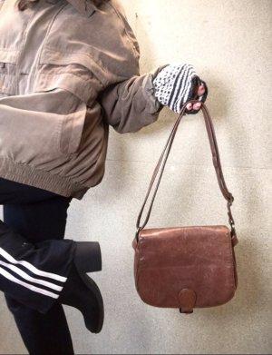 Braune Leder / Echtleder Tasche von Maverick (Umhängetasche)