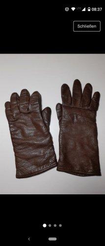 Braune Leder- Handschuhe XS