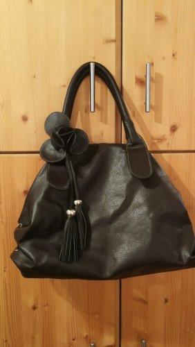 Braune Leder Imitat Handtasche