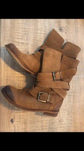 unbekannte Wide Calf Boots brown-camel