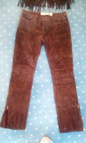 H&M Pantalon en cuir brun