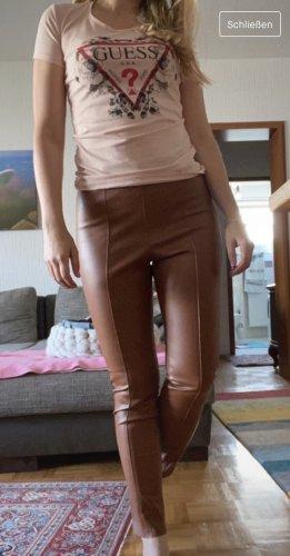 H&M Leren broek bruin