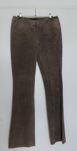 H&M Leather Trousers brown leather