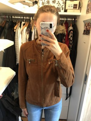 Aiki Leather Jacket brown