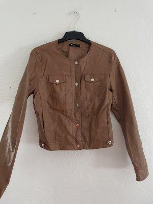 Flame Skórzana kurtka brązowy-cognac
