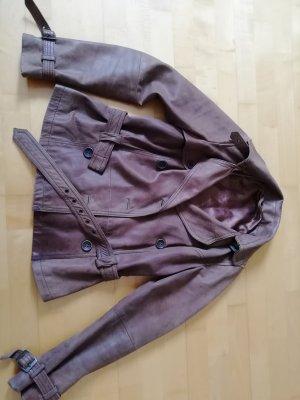 Braune Lederjacke (echtes Leder) Gr. 36