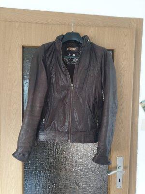 Braune Lederjacke Pepe Jeans Gr. m