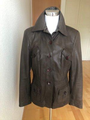 Braune Lederjacke von Marie Lund in Gr 42