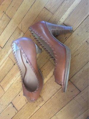 Görtz Shoes Peep Toe Pumps cognac