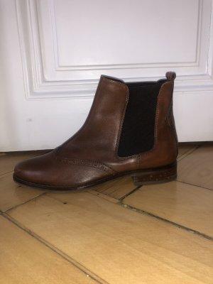 Stivale a gamba corta marrone-marrone-nero